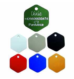 Psí známka PZ6D - šestiuhelník