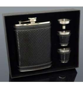 sada likérka černá 270 ml, nálevka, pohárky 500303