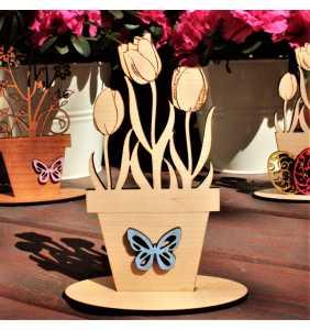 Dřevěná dekorace_květina02