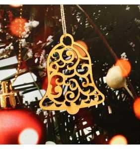Vánoční ozdoba na stromeček zvonek