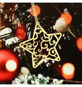 Vánoční ozdoba na stromeček hvězda