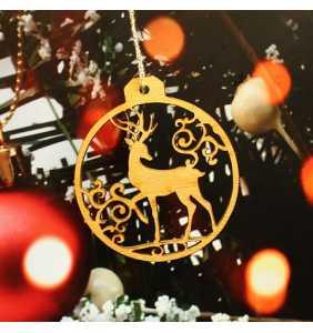 Vánoční ozdoba na stromeček jelen