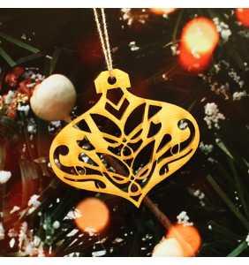 Vánoční ozdoba na stromeček baňka 3