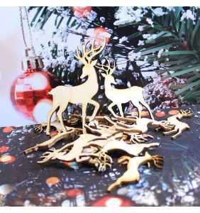 Sada Vánočních ozdob jelen