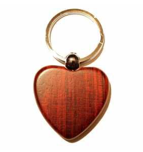 Klíčenka srdce DP10p palisandr