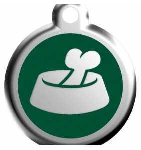 Psí známka střední - K18 - miska - zelená