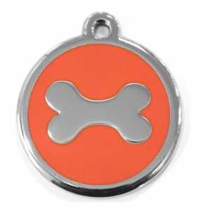 Psí známka velká - K19 - kost - oranžová