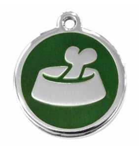 Psí známka malá - K17 - miska - zelená