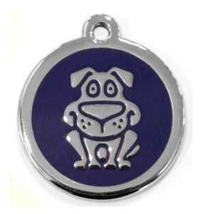 Psí známka velká - K19 - pes - modrá