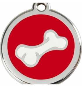 psí známka střední - K18 - kost bílá/červená