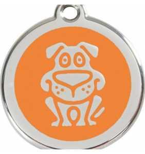 psí známka střední - K18 - pes oranžový
