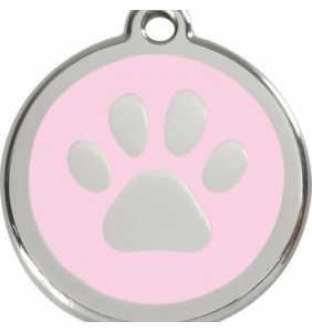 psí známka střední - K18 - tlapka světle růžová