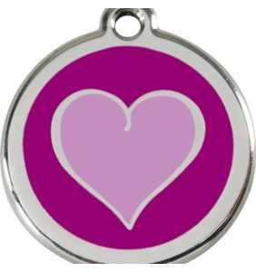 psí známka střední - K18 - srdce fialové